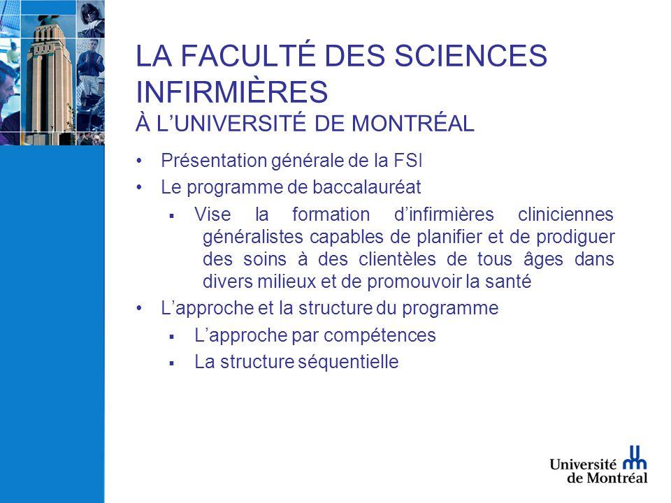 LA FACULTÉ DES SCIENCES INFIRMIÈRES À L'UNIVERSITÉ DE MONTRÉAL