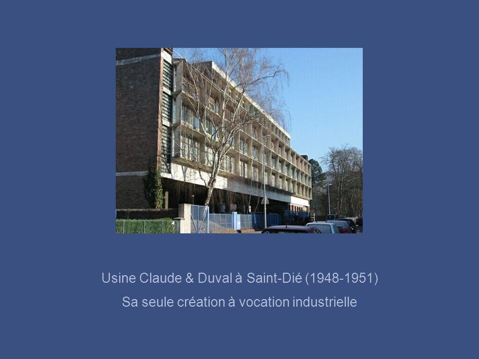 Usine Claude & Duval à Saint-Dié (1948-1951)