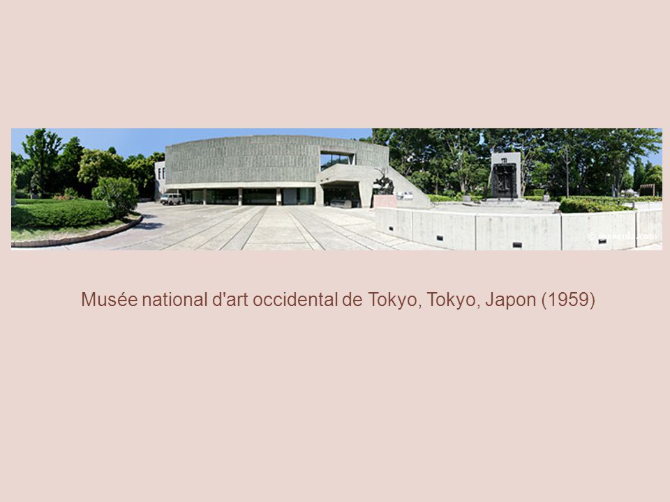 Musée national d art occidental de Tokyo, Tokyo, Japon (1959)