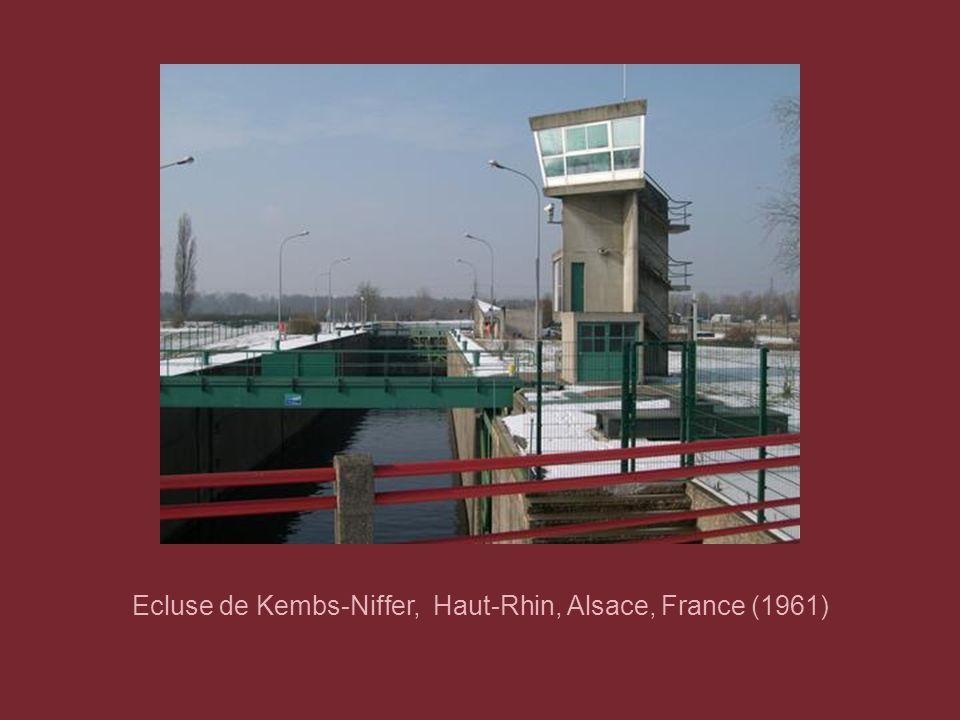 Ecluse de Kembs-Niffer, Haut-Rhin, Alsace, France (1961)