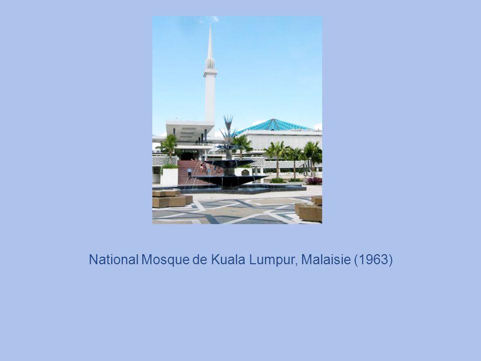 National Mosque de Kuala Lumpur, Malaisie (1963)