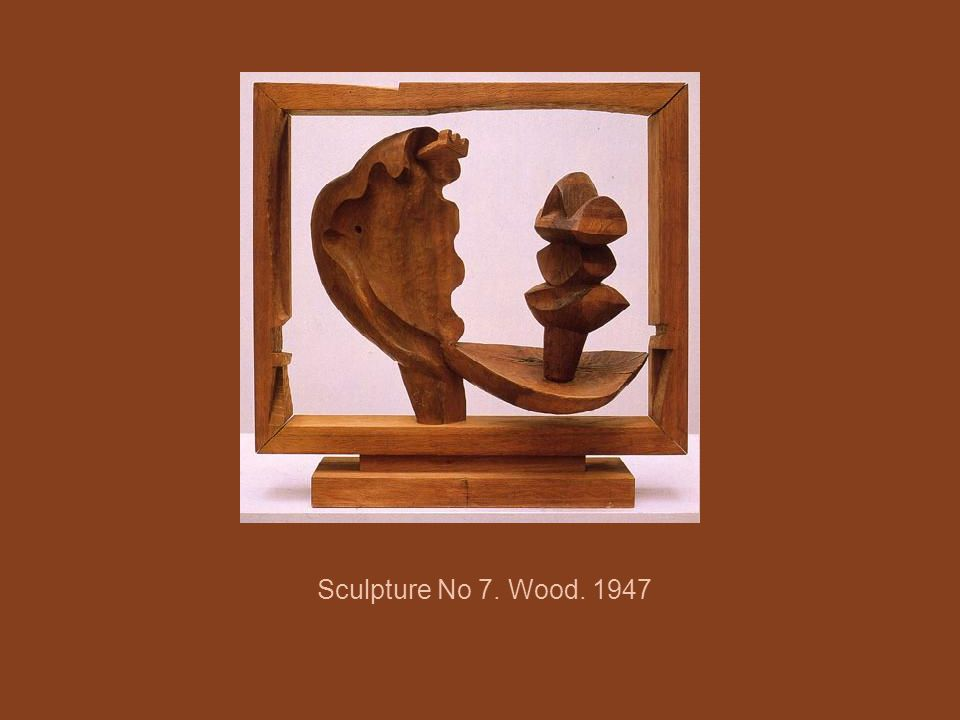 Sculpture No 7. Wood. 1947