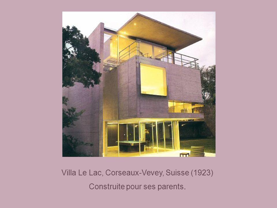 Villa Le Lac, Corseaux-Vevey, Suisse (1923)