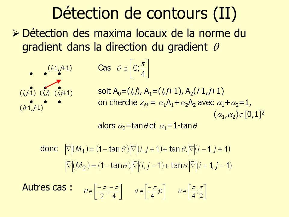 Détection de contours (II)