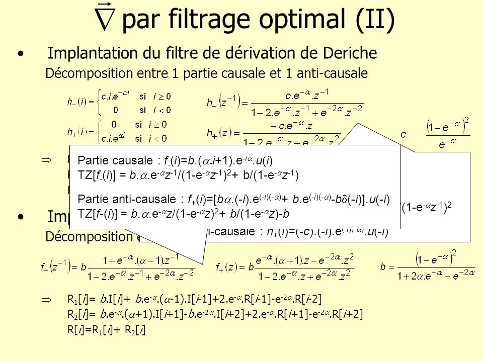par filtrage optimal (II)