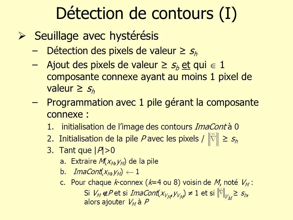 Détection de contours (I)