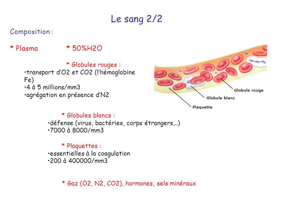 * Gaz (O2, N2, CO2), hormones, sels minéraux