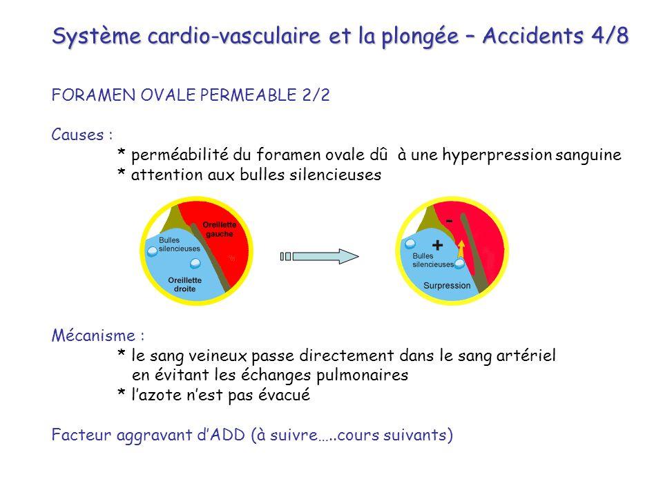 Système cardio-vasculaire et la plongée – Accidents 4/8