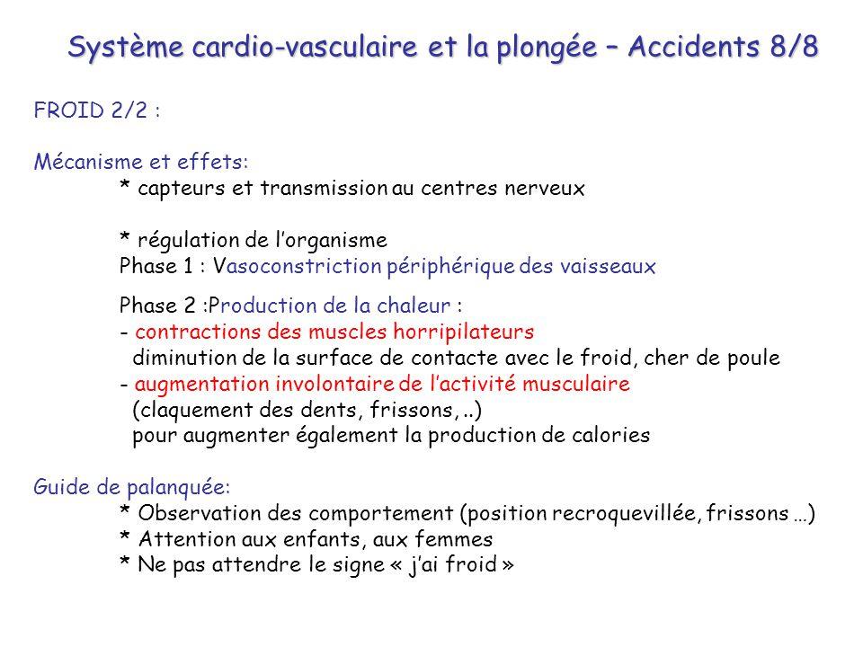Système cardio-vasculaire et la plongée – Accidents 8/8