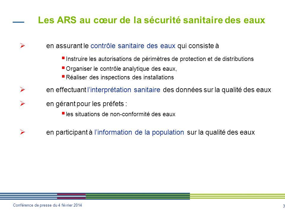 Les ARS au cœur de la sécurité sanitaire des eaux