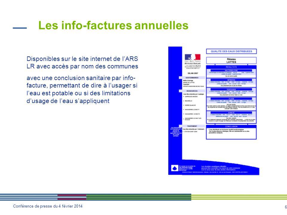 Les info-factures annuelles