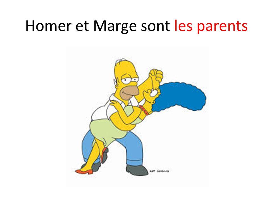 Homer et Marge sont les parents