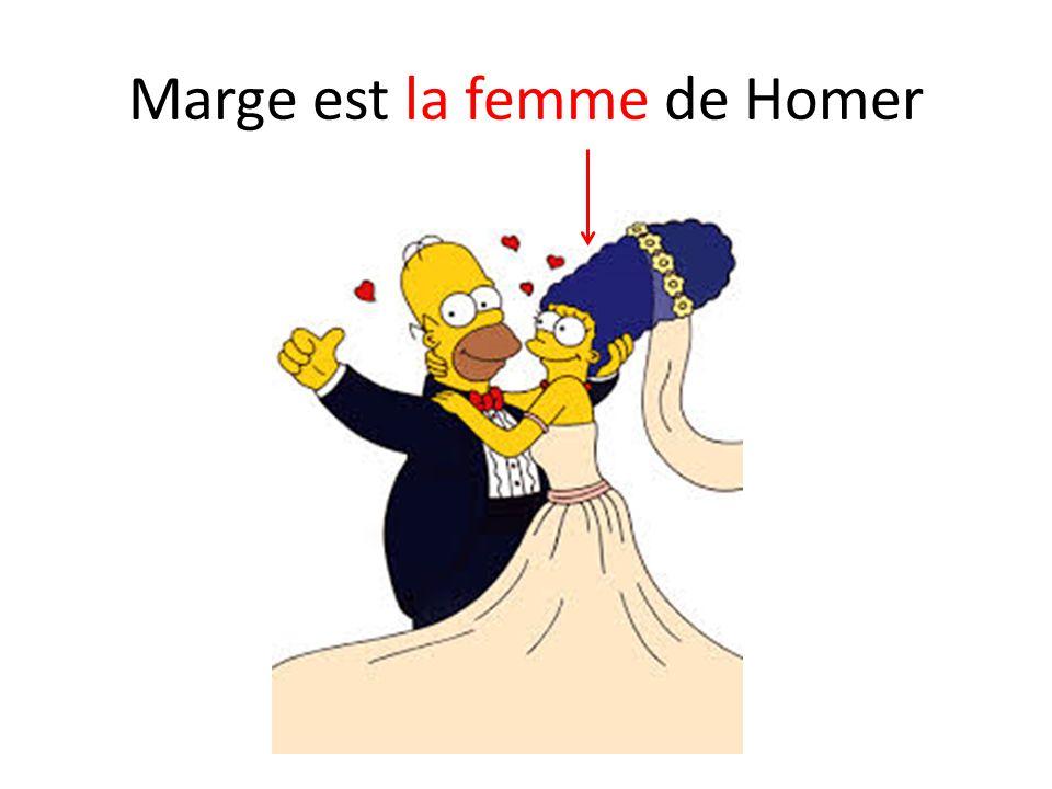 Marge est la femme de Homer