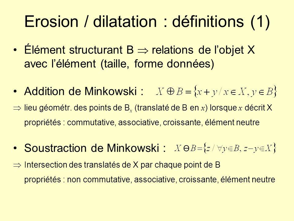 Erosion / dilatation : définitions (1)