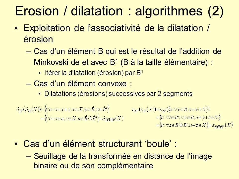 Erosion / dilatation : algorithmes (2)