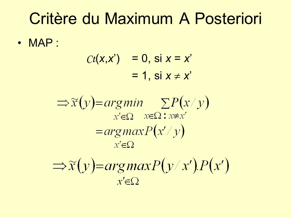 Critère du Maximum A Posteriori