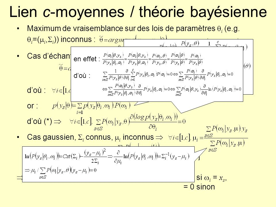 Lien c-moyennes / théorie bayésienne