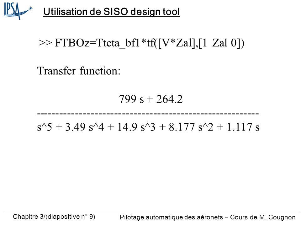 Utilisation de SISO design tool