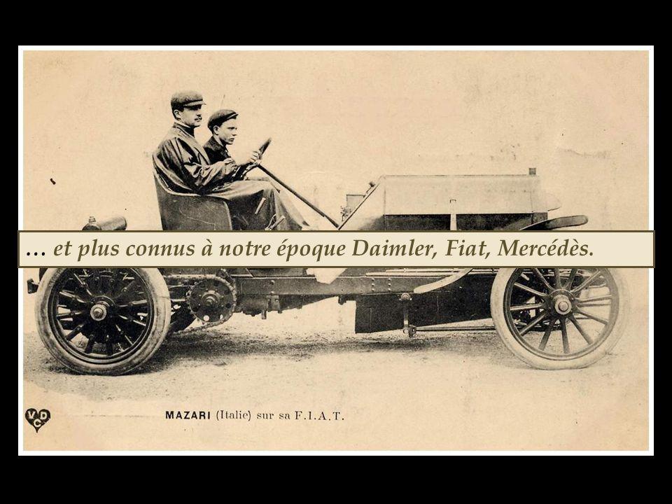 … et plus connus à notre époque Daimler, Fiat, Mercédès.