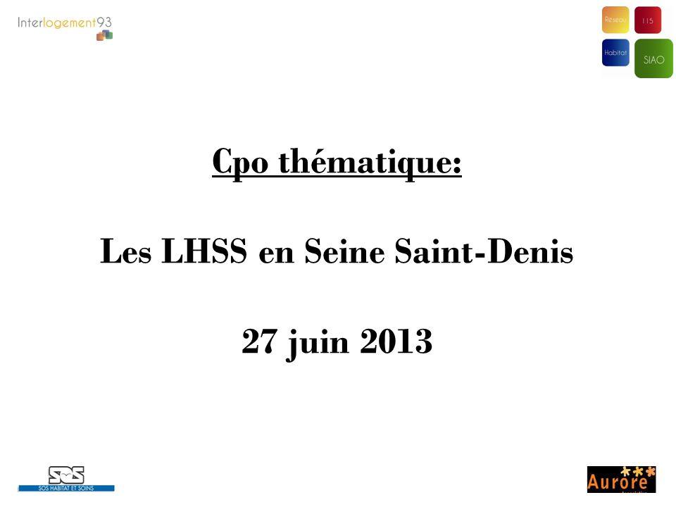 Les LHSS en Seine Saint-Denis