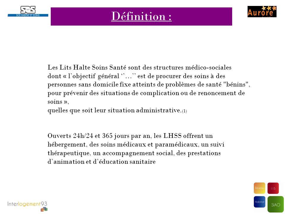 Définition : Les Lits Halte Soins Santé sont des structures médico-sociales.