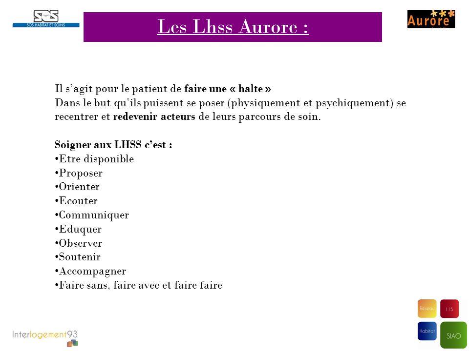 Les Lhss Aurore : Il s'agit pour le patient de faire une « halte »
