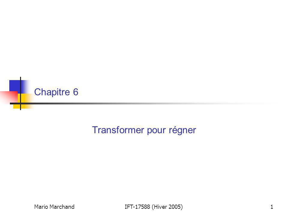 Transformer pour régner