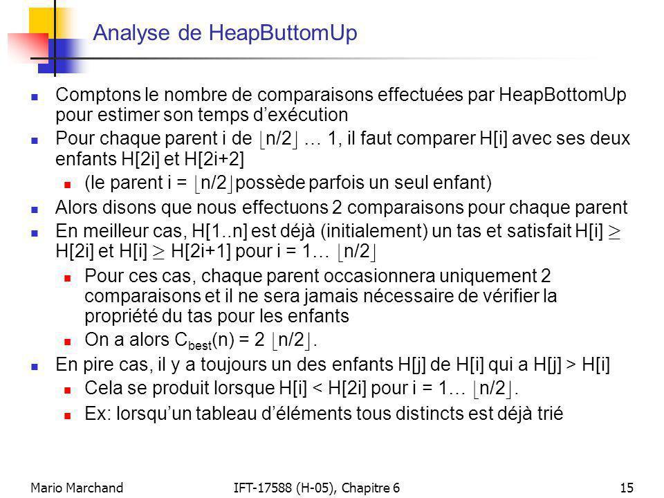 Analyse de HeapButtomUp
