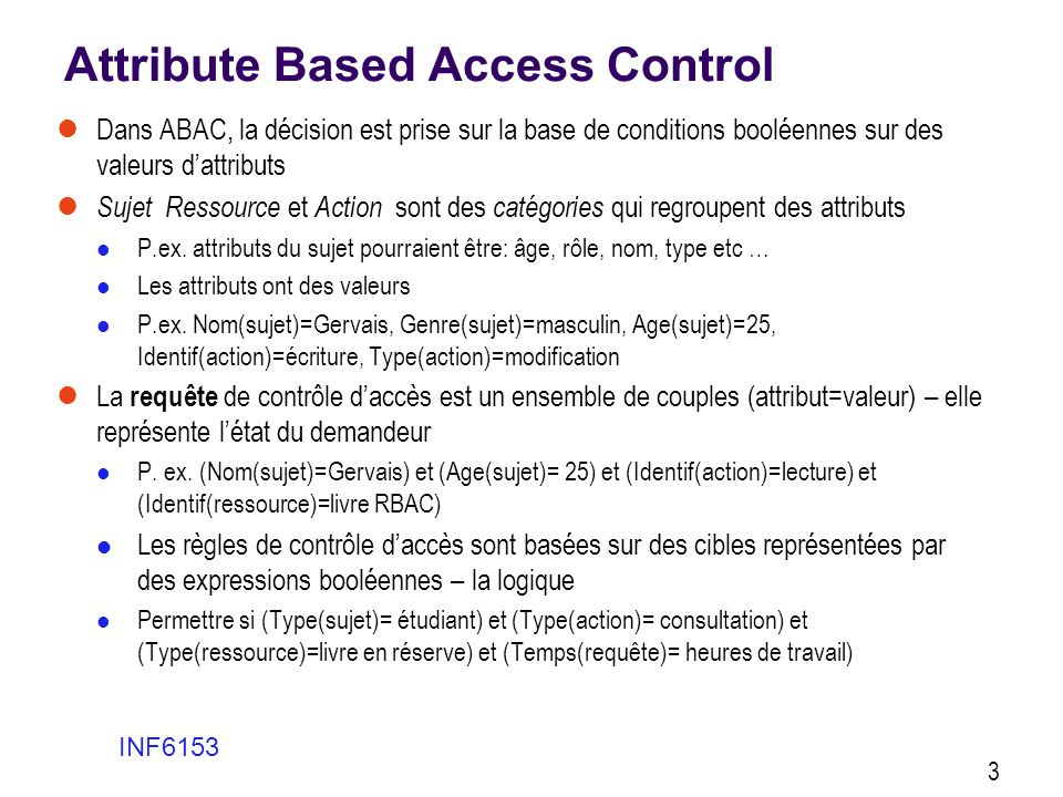 Attribute Based Access Control