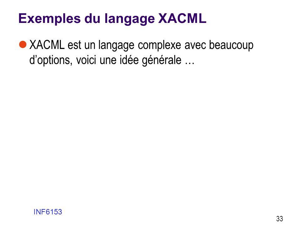 Exemples du langage XACML
