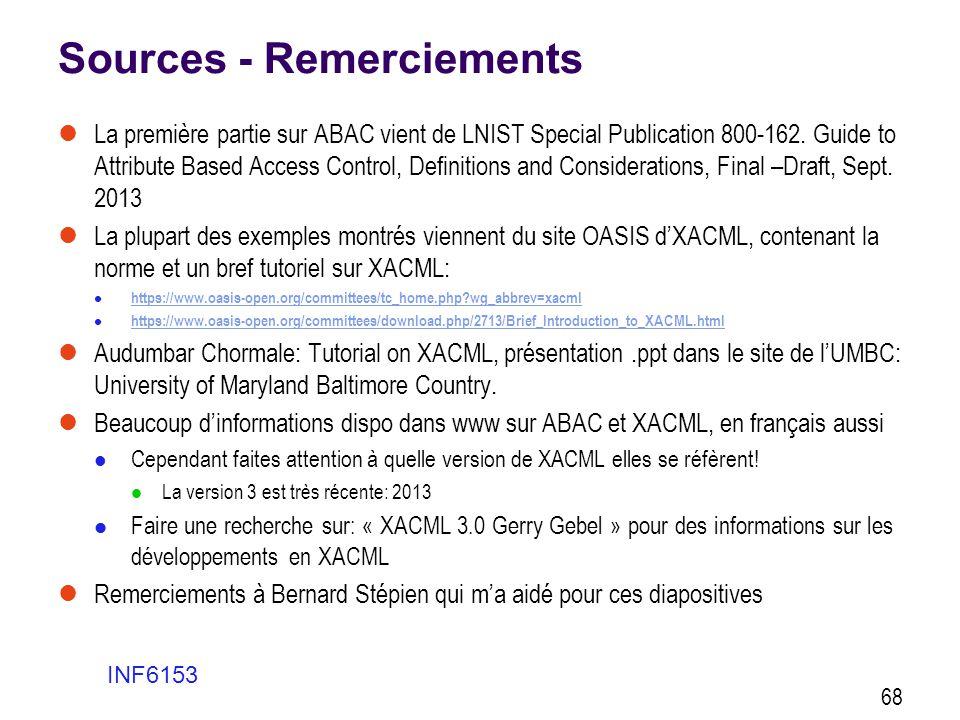Sources - Remerciements