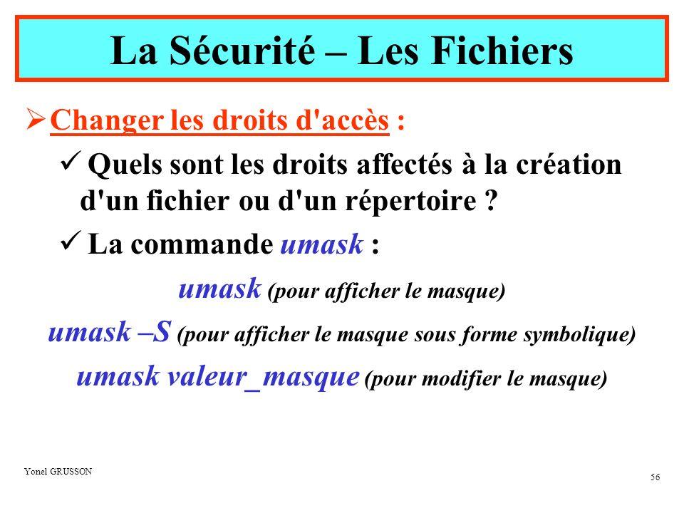 La Sécurité – Les Fichiers