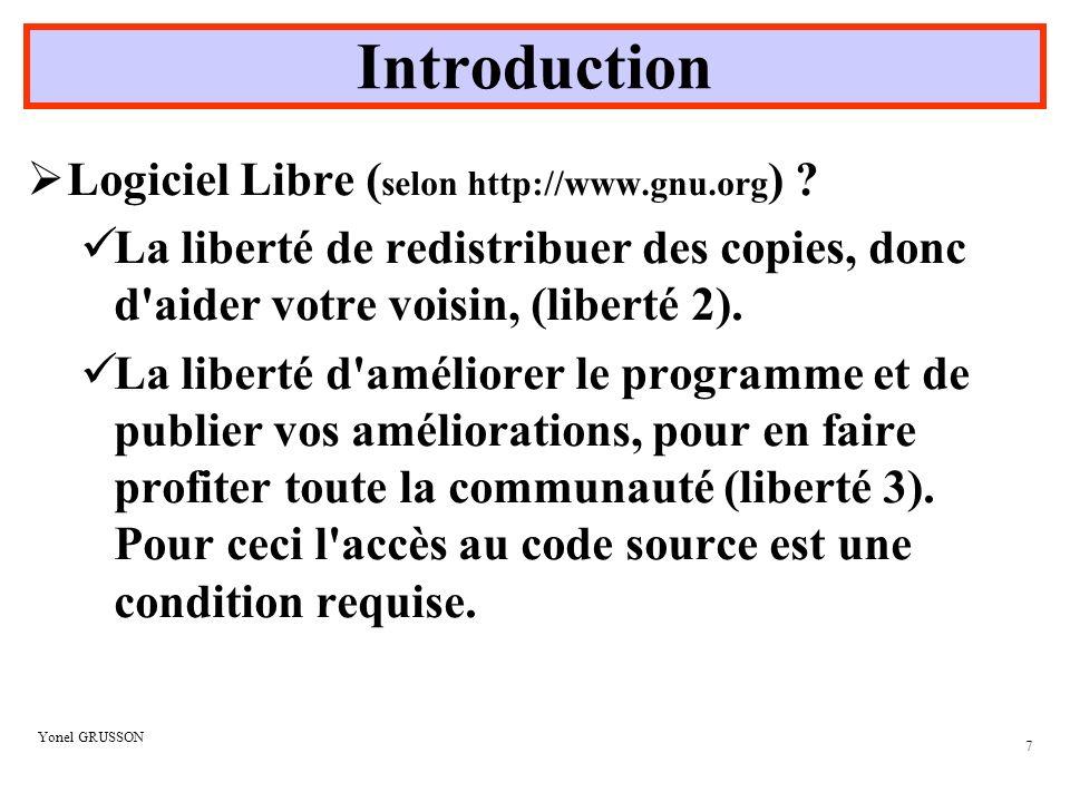 Introduction Logiciel Libre (selon http://www.gnu.org)