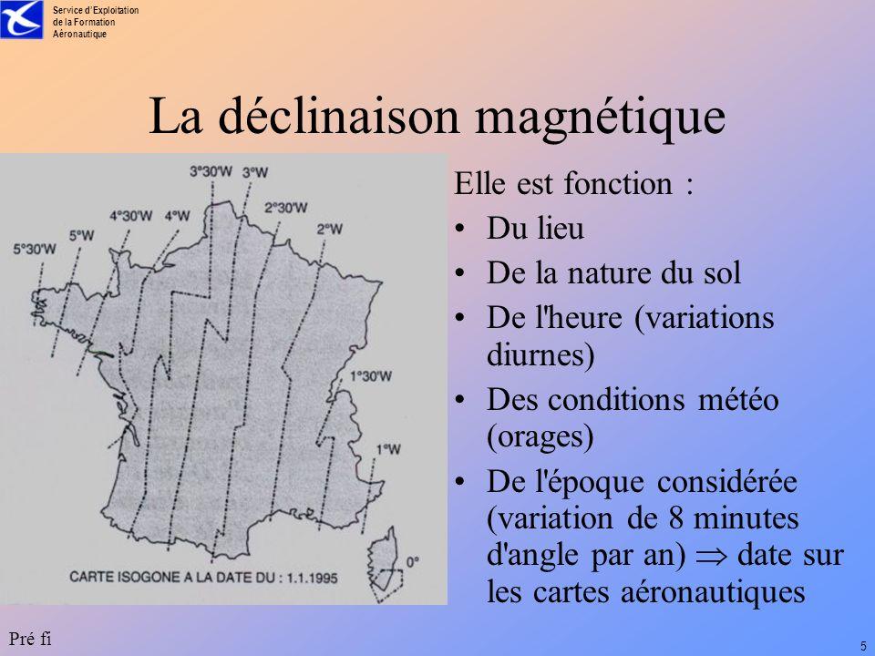La déclinaison magnétique