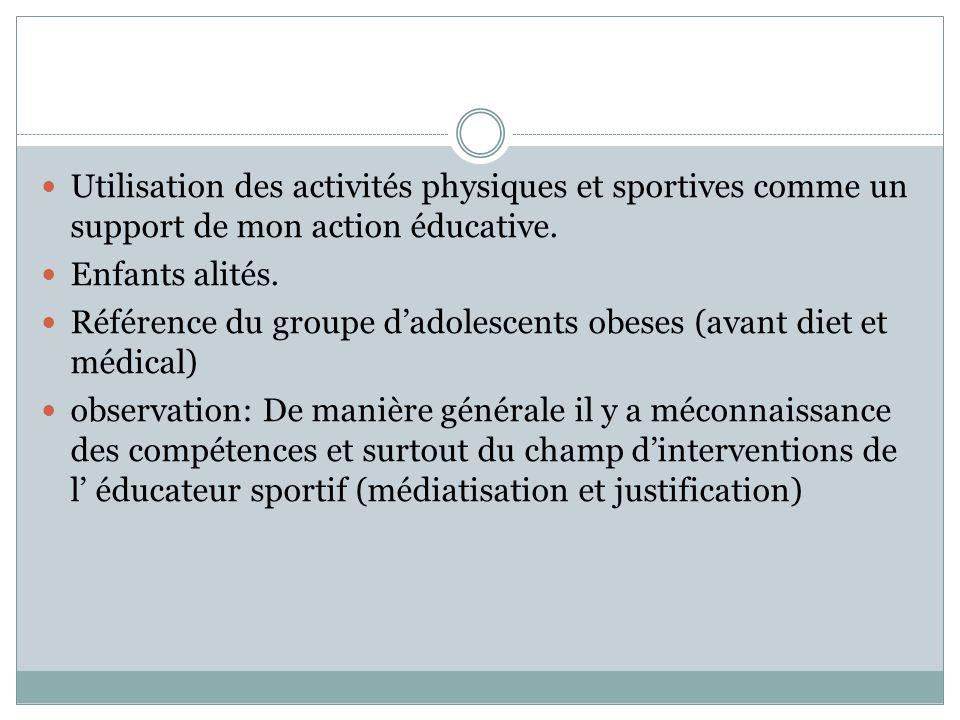 Référence du groupe d'adolescents obeses (avant diet et médical)
