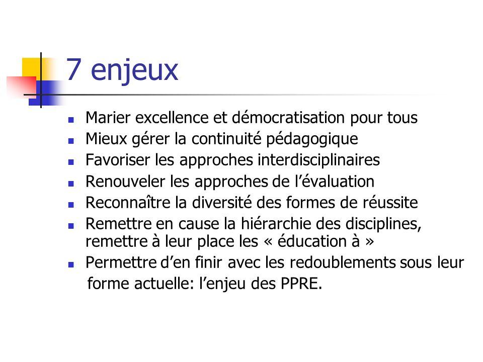7 enjeux Marier excellence et démocratisation pour tous