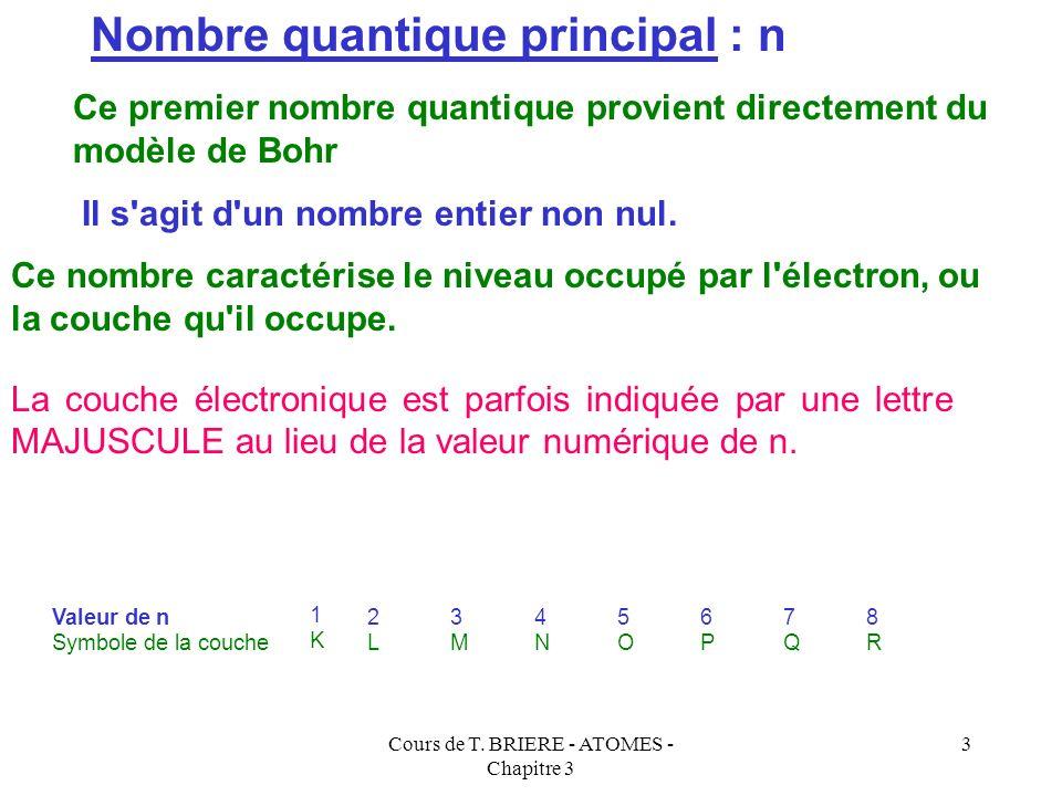 Cours de T. BRIERE - ATOMES - Chapitre 3