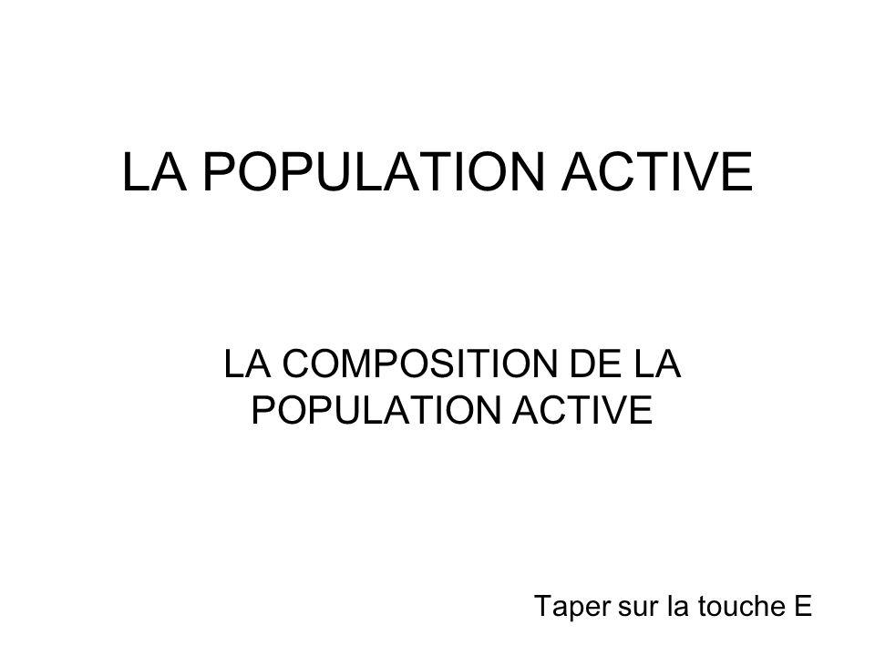 LA COMPOSITION DE LA POPULATION ACTIVE