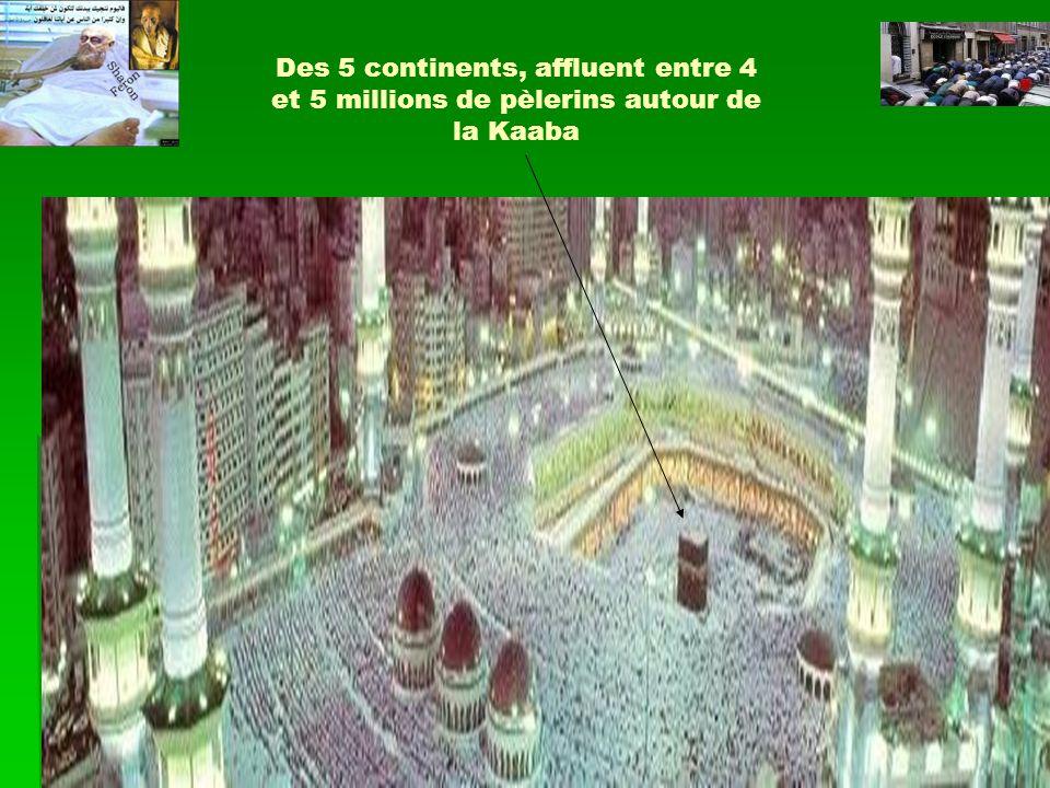 Des 5 continents, affluent entre 4 et 5 millions de pèlerins autour de la Kaaba