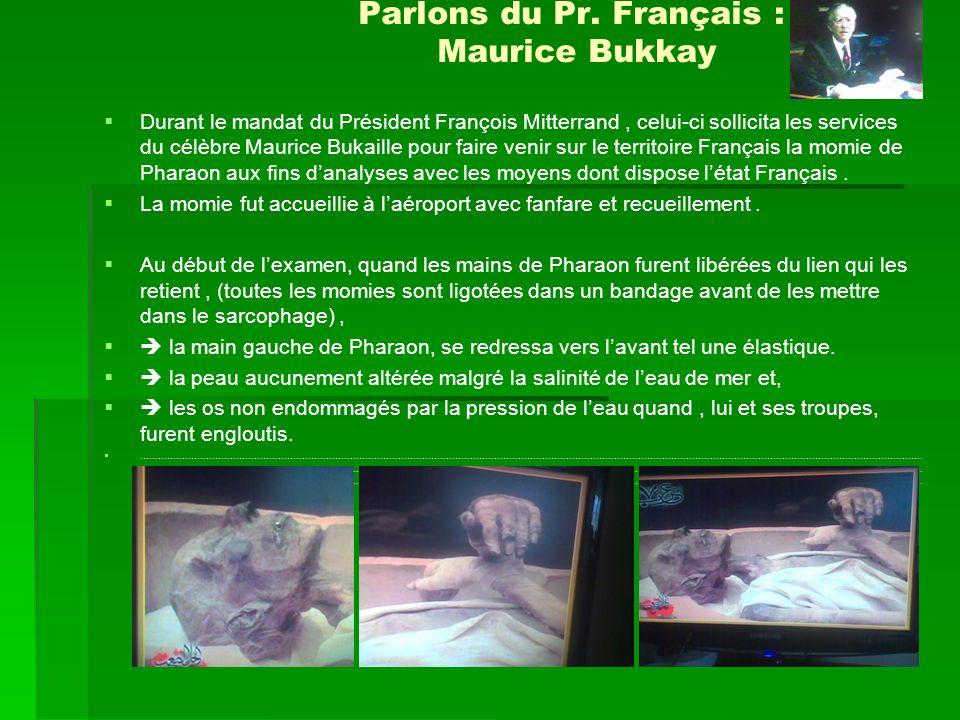 Parlons du Pr. Français : Maurice Bukkay