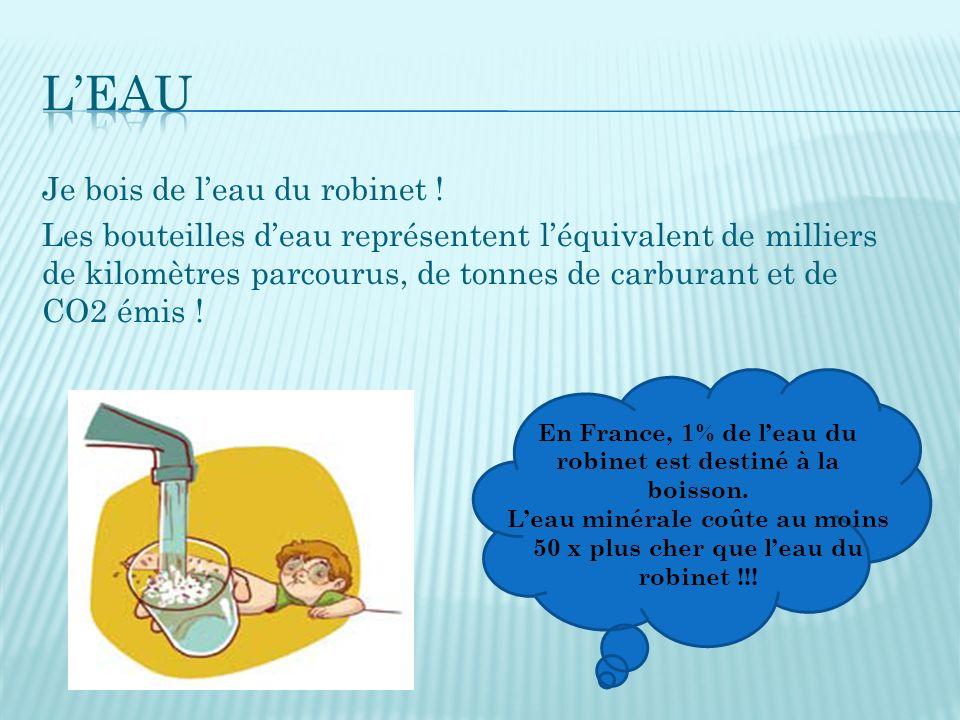 Le d veloppement durable ppt t l charger - Combien coute 1 litre d eau du robinet ...