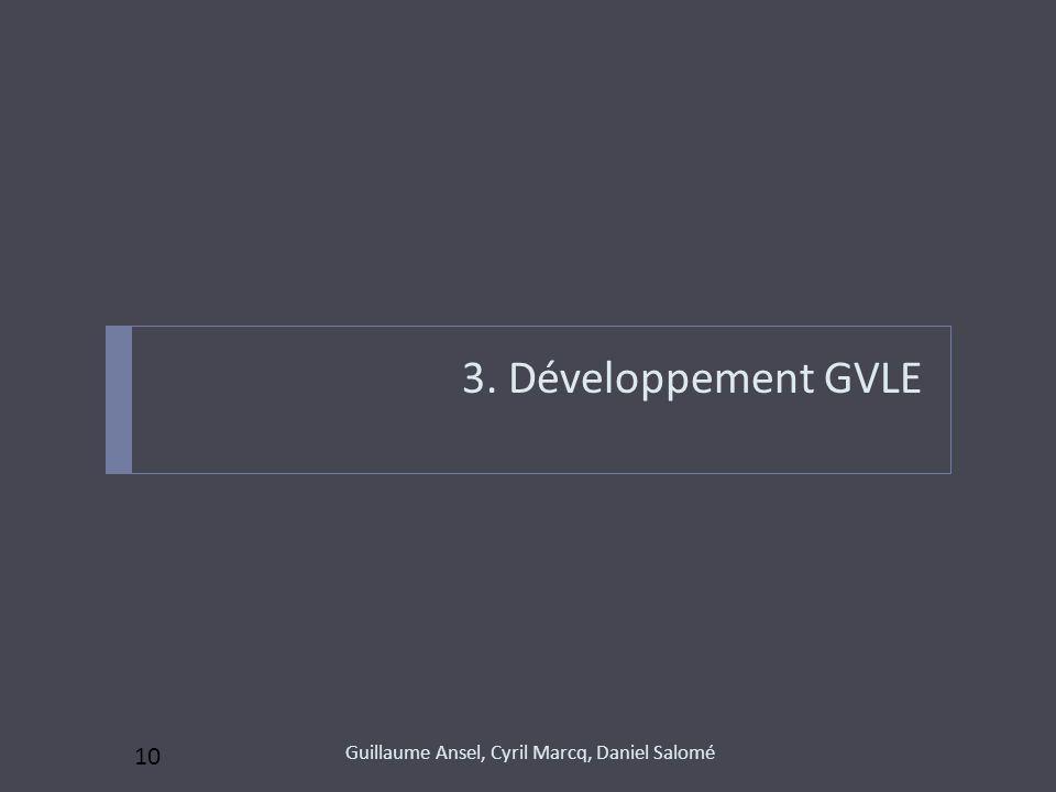 3. Développement GVLE 10 Guillaume Ansel, Cyril Marcq, Daniel Salomé