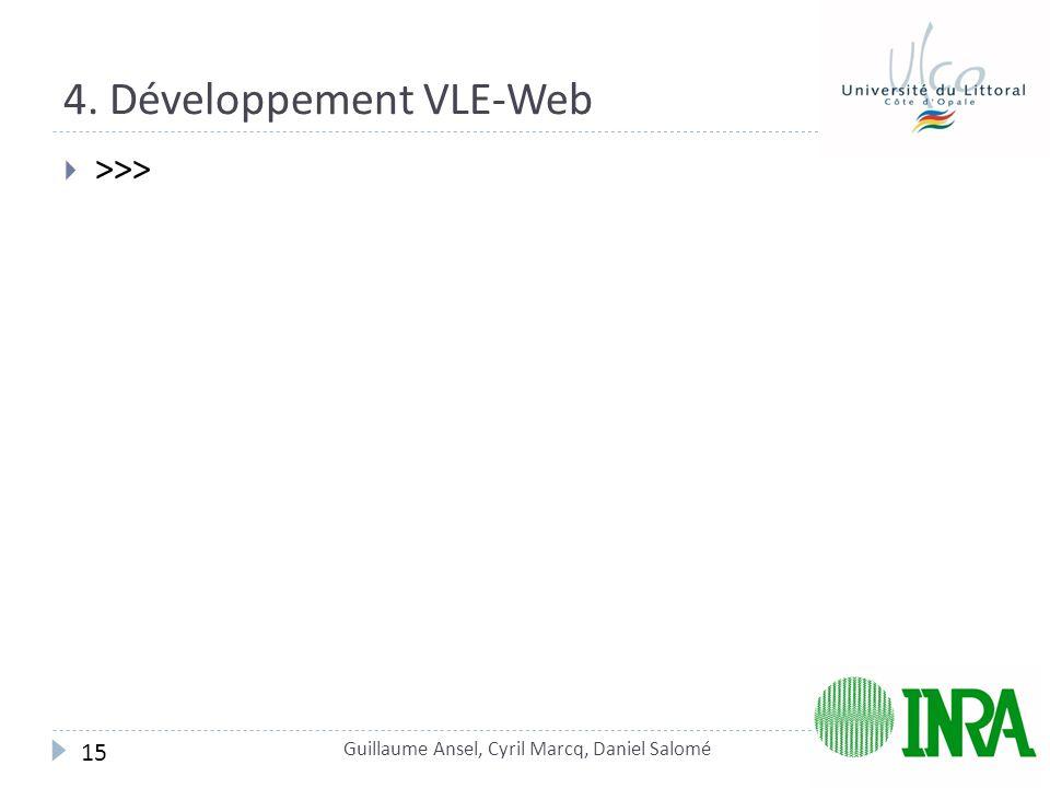 4. Développement VLE-Web