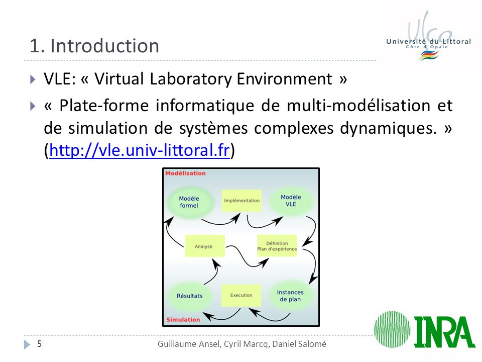 1. Introduction VLE: « Virtual Laboratory Environment »