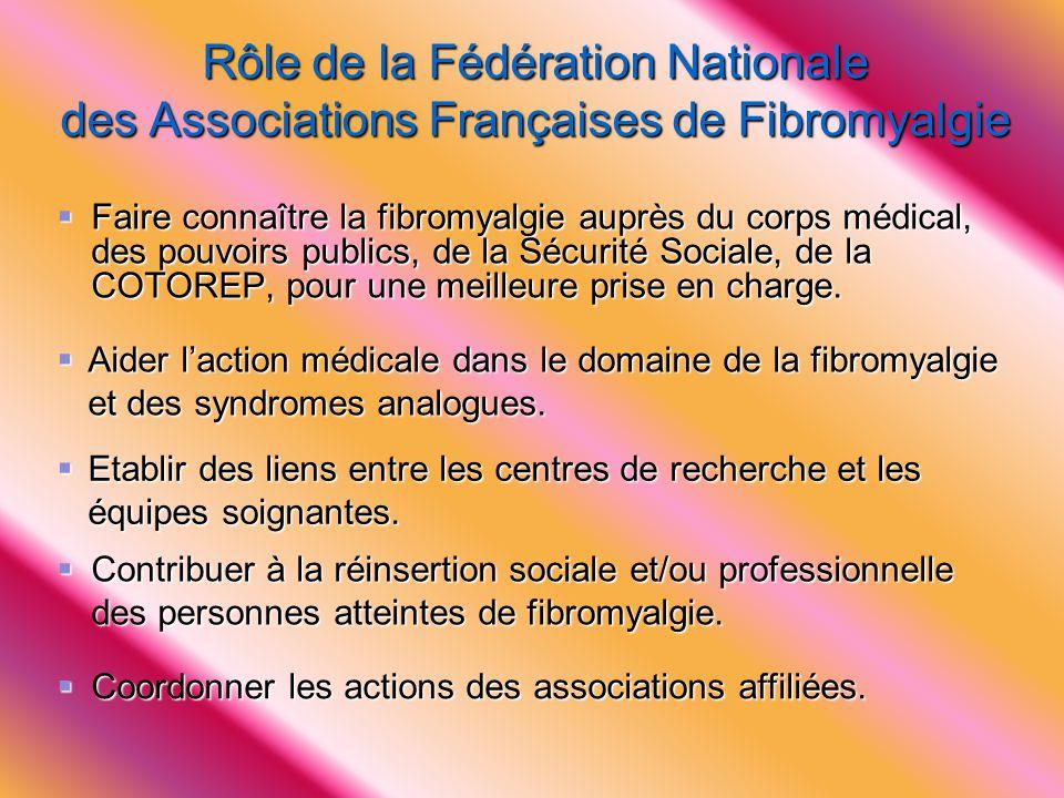 Rôle de la Fédération Nationale des Associations Françaises de Fibromyalgie