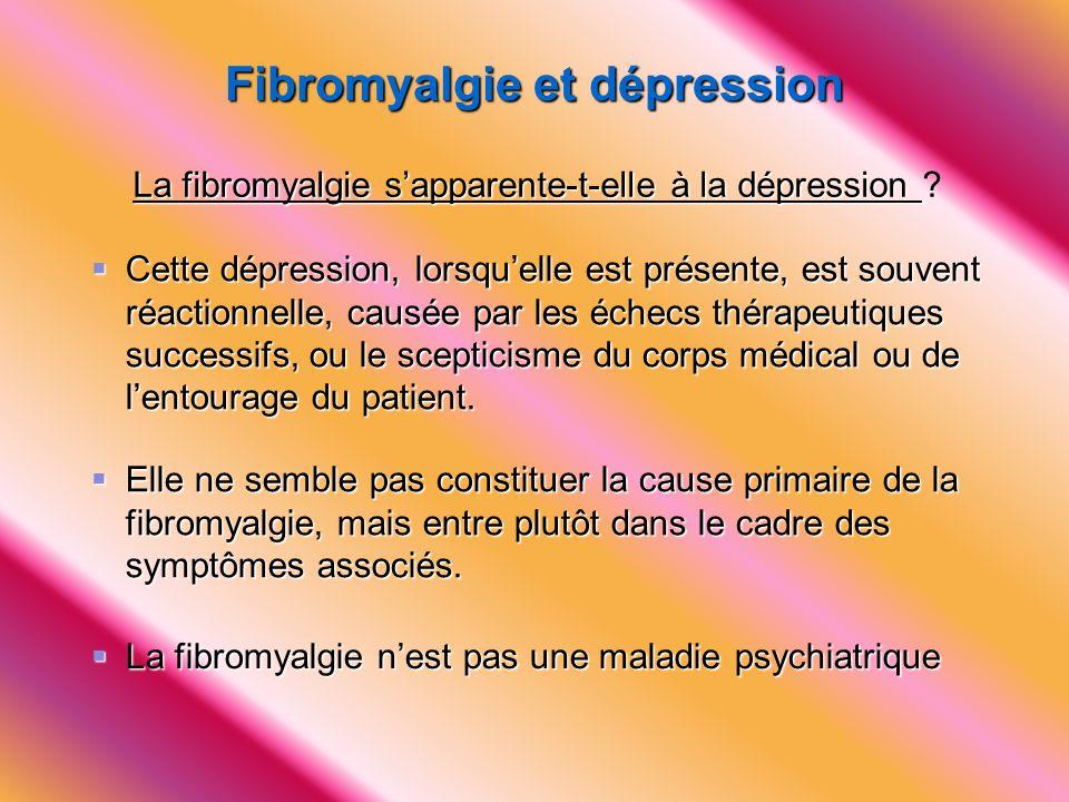 Fibromyalgie et dépression