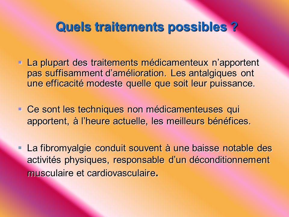 Quels traitements possibles