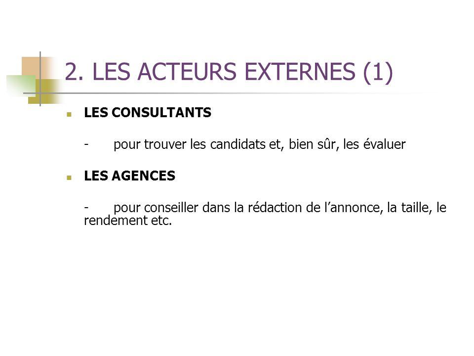 2. LES ACTEURS EXTERNES (1)