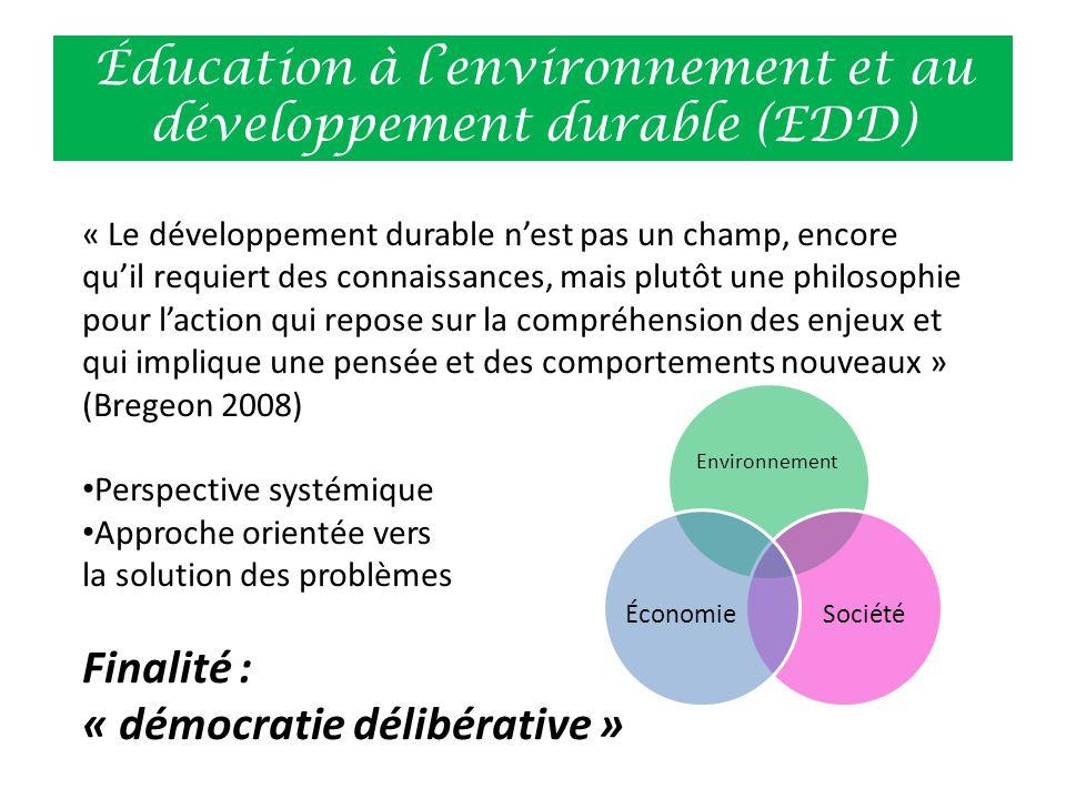 Éducation à l'environnement et au développement durable (EDD)