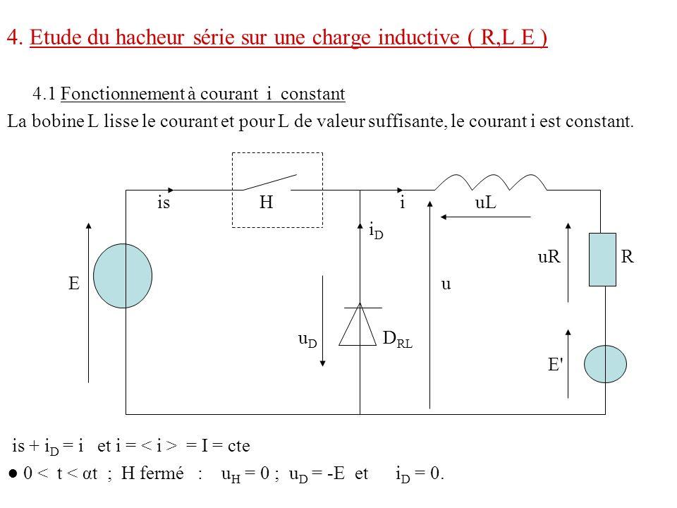 4. Etude du hacheur série sur une charge inductive ( R,L E )